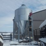 12 ton feed bin with auger
