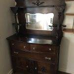 antique tiger oak buffet-min