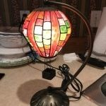 tiffany style brass base ballon table lamp-min